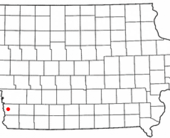 Location of Glenwood, Iowa