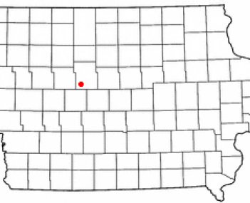 Location of Gowrie, Iowa