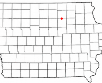 Location of Greene, Iowa