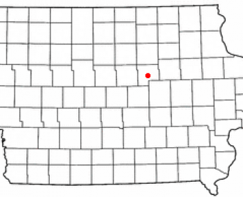 Location of Grundy Center, Iowa