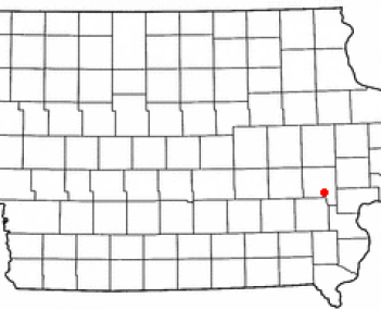 Location of Hills, Iowa