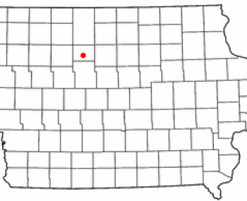 Location of Humboldt, Iowa