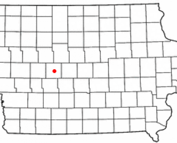 Location of Jefferson, Iowa