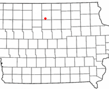 Location of Kanawha, Iowa