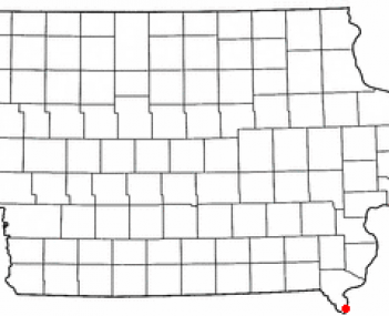 Location of Keokuk, Iowa