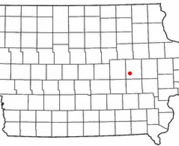 Location of Keystone, Iowa