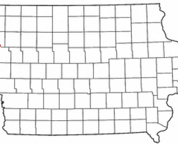 Location of Kingsley, Iowa