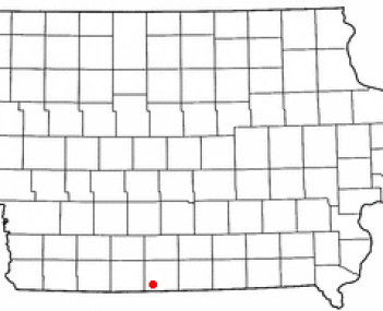 Location of Lamoni, Iowa