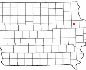 Location of Manchester, Iowa