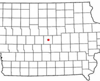 Location of Nevada, Iowa