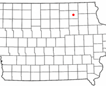 Location of NewHampton, Iowa