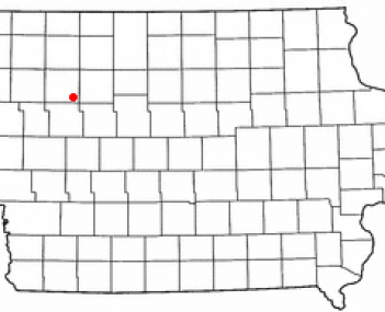 Location of Newell, Iowa