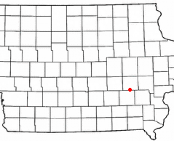 Location of North English, Iowa