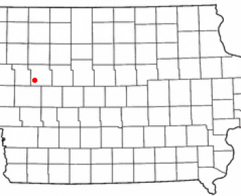 Location of Odebolt, Iowa