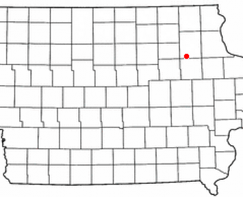 Location of Oelwein, Iowa