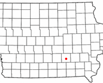 Location of Oskaloosa, Iowa
