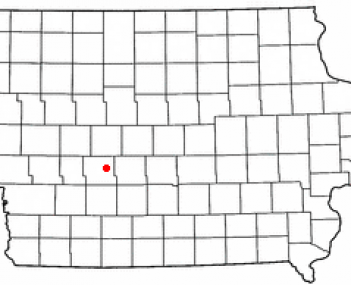 Location of Panora, Iowa