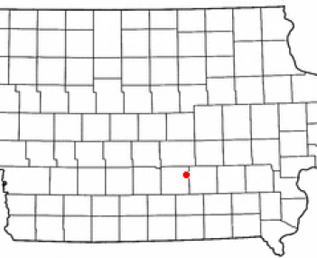 Location of Pella, Iowa
