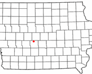 Location of Perry, Iowa