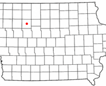 Location of Pocahontas, Iowa