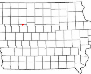 Location of Pomeroy, Iowa