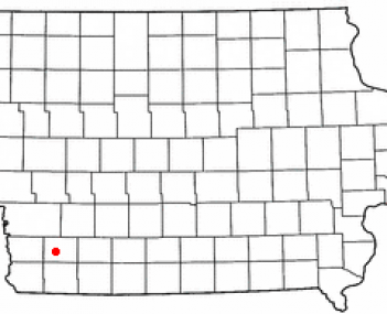 Location of Red Oak, Iowa
