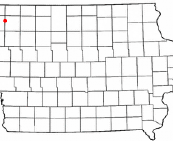 Location of Sheldon, Iowa