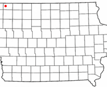 Location of Sibley, Iowa