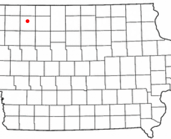 Location of Spencer, Iowa