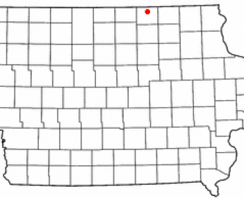 Location of Stacyville, Iowa