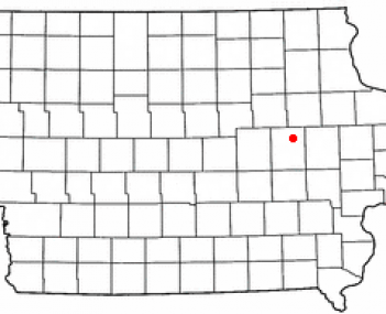 Location of Vinton, Iowa