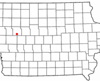 Location of Wall Lake, Iowa