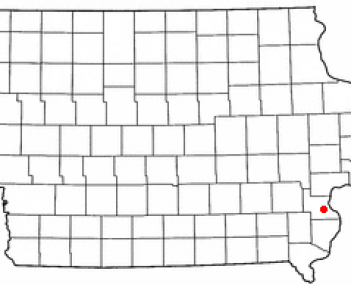 Location of Wapello, Iowa