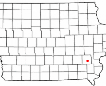 Location of Washington, Iowa
