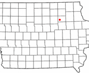 Location of Waverly, Iowa