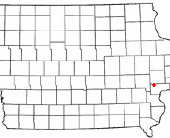 Location of West Liberty, Iowa