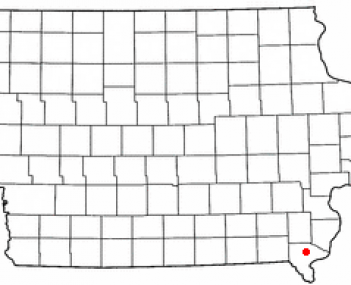 Location of West Point, Iowa