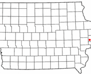 Location of Wheatland, Iowa