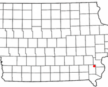 Location of Winfield, Iowa