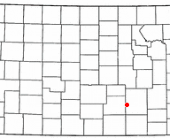 Location of Andover, Kansas