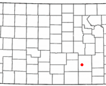 Location of Augusta, Kansas