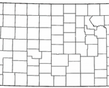 Location of Baldwin City, Kansas