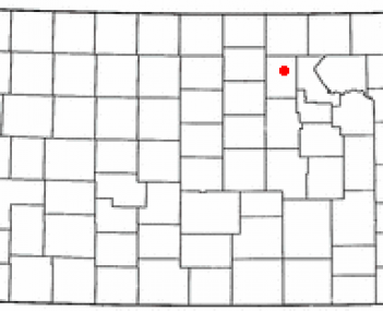Location of Clay Center, Kansas