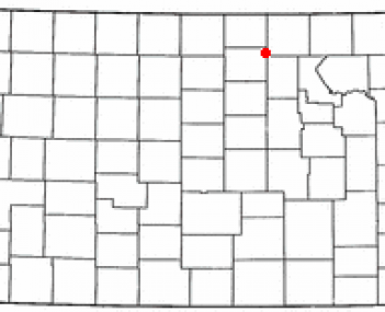 Location of Clyde, Kansas