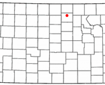 Location in the state of Kansas