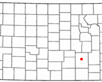 Location of El Dorado in Kansas