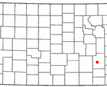 Location of Eureka, Kansas