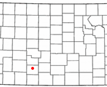 Location of Greensburg, Kansas