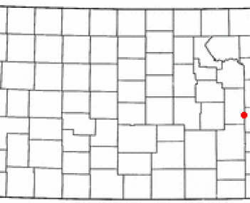 Location of Hartford, Kansas
