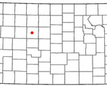 Location of Hays in Kansas
